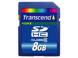 Transcend 8GB SDHC (Class 6) - TS8GSDHC6
