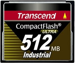 Transcend 512MB Industrial CF Card (100X) - TS512MCF100I