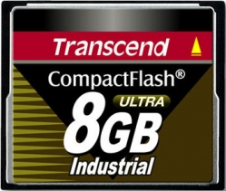 Transcend 8GB Industrial CF Card (100X)  - TS8GCF100I