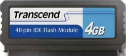 Transcend 4GB IDE 40PIN Vertical Low-Profile - TS4GPTM520 (TS4GDOM40V-S)