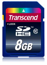 Transcend 8GB SDHC (Class 10) - TS8GSDHC10