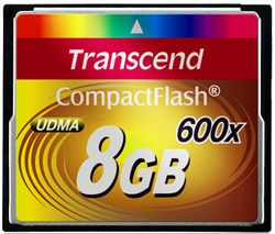 Transcend 8GB CF Card (600X) - TS8GCF600