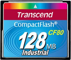 Transcend 128MB Industrial CF Card (80X) with PIO mode - TS128MCF80-P