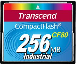 Transcend 256MB Industrial CF Card (80X) with PIO mode - TS256MCF80-P