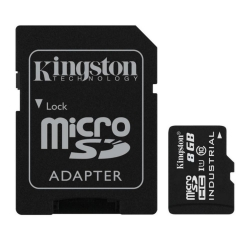Kingston 8GB microSDHC Class 10 UHS-I Industrial with SD Adapter  - SDCIT/8GB