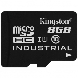 Kingston 8GB microSDHC Class 10 UHS-I Industrial - SDCIT/8GBSP