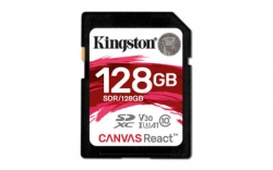 Kingston 128GB SDXC UHS-I Class 3 (V30) Canvas React - SDR/128GB