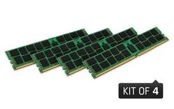 Kingston 64GB 2400MHz DDR4 ECC Reg CL17 DIMM (Kit of 4) 2Rx4 - KVR24R17D4K4/64