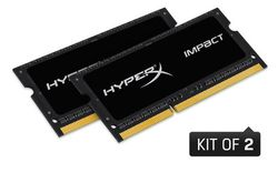 Kingston HyperX 8GB 2133MHz DDR3L CL11 SODIMM (Kit of 2) 1.35V Impact Black - HX321LS11IB2K2/8
