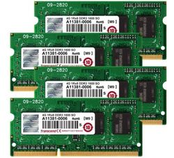 Transcend JetMemory 32GB Kit (4x8GB) 1600MHz DDR3L DR x8 SO-DIMM for Apple - TS32GJMA584H