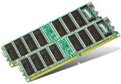 Transcend 2GB Kit 400MHz DDR CL3 DIMM - TS2GDDR400K
