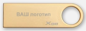 Kingston 8GB USB 2.0 DataTraveler GE9 (Gold) Co-Logo - DTGE9/8GBCL