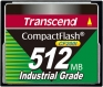 Transcend 512MB Industrial CF Card (200X) - TS512MCF200I