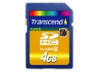 Transcend 4GB Ultimate SDHC Card (150X Class 6) SLC - TS4GSDHC150
