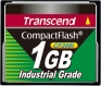 Transcend 1GB Industrial CF Card (200X)  - TS1GCF200I