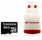 Transcend 4GB microSDHC Class 2 with Card Reader - TS4GUSDHC2-P3