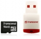 Transcend 16GB microSDHC Class 2 with Card Reader - TS16GUSDHC2-P3
