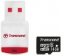 Transcend 16GB microSDHC Class 4 with USB Card Reader - TS16GUSDHC4-P3