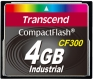 Transcend 4GB CF Card (300X) - TS4GCF300