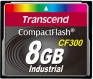 Transcend 8GB CF Card (300X) - TS8GCF300