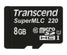 Transcend 8GB microSDHC220I Industrial with SuperMLC&U1 Speed - TS8GUSD220I