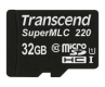 Transcend 32GB microSDHC220I Industrial with SuperMLC&U1 Speed - TS32GUSD220I