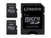 Kingston Twin Pack (2 x 2GB microSD with SD adapter) - SDC/2GB-2P1A
