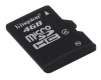 Kingston 4GB microSDHC (Class 4) SD adapter not included - SDC4/4GBSP