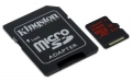 Kingston 64GB microSDXC C10 UHS-I U3 R90/W80MB/s 4K - SDCA3/64GB