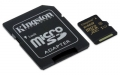 Kingston 64GB microSDXC Class 10 UHS-I Card with SD Adapter - SDCA10/64GB