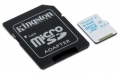 Kingston 64GB microSDXC Class 10 Action Camera UHS-I U3 Card with SD Adapter - SDCAC/64GB