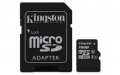 Kingston 16GB microSDHC UHS-I Class 1 (U1) Canvas Select with SD Adapter - SDCS/16GB