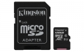Kingston 128GB microSDXC UHS-I Class 1 (U1) Canvas Select with SD Adapter - SDCS/128GB