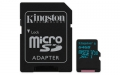 Kingston 64GB microSDXC UHS-I Class U3 Canvas Go! with SD Adapter - SDCG2/64GB