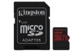 Kingston 32GB microSDHC UHS-I Class 3 (V30) Canvas React with SD Adapter - SDCR/32GB