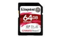 Kingston 64GB SDXC UHS-I Class 3 (V30) Canvas React - SDR/64GB