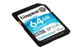Kingston 64GB SDXC Canvas Go Plus 170R C10 UHS-I U3 V30 - SDG3/64GB