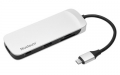 Kingston Connect USB 3.0, 4K HDMI, SD and MicroSD Card, USB Type-C Charging for MacBook, Chromebook, and Other USB Type-C Devices - C-HUBC1-SR-EN