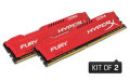 Kingston HyperX 16GB 2133MHz DDR4 CL14 DIMM (Kit of 2) 1Rx8 HyperX FURY Red - HX421C14FR2K2/16