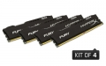 Kingston HyperX 16GB 2133MHz DDR4 Non-ECC CL14 DIMM (Kit of 4) FURY Black Series - HX421C14FBK4/16