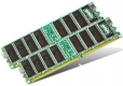 Transcend 2GB Kit (2x1GB) 266MHz DDR ECC DIMM for Dell - TS2GDL450E